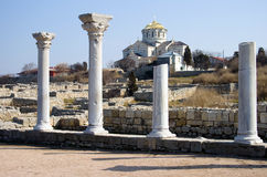 Vladimir's cathedral, Chersonese. Stock Photos