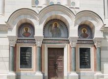 Vladimir` s kathedraal, begrafeniskluis van admiraals, Sebastopol, de Krim stock foto