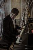 Vladimir Selonians (piano )  Italian Ambassador Cesare Maria Ragalini Royalty Free Stock Photos