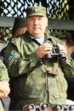 Vladimir Shamanov (Commander-in-Chief Russian Airborne Troops) during Command post exercises with 98-th Guards Airborne Division, Royalty Free Stock Image