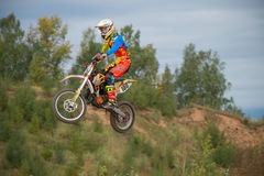 Vladimir Sychev 188. MOSCOW, RUSSIA - SEPTEMBER 10, 2016: Vladimir Sychev 188 motopark Velyaminovo, class `Country Kidz`, in the 4 stage of the XSR-MOTO.RU Cross stock photography