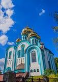 Vladimir Temple av staden av Kharkiv Arkivfoto