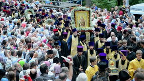Vladimir 1000th celebration anniversary of the repose, Kiev, Ukraine, stock video