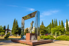 Vladimir Vysotsky Monument in Podgorica Stock Images