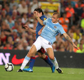 Vladimir Weiss. Manchester City international Slovak Vladimir Weiss during the match Trophy Joan Gamper between FC Barcelona and Manchester City at Nou Camp Royalty Free Stock Photos
