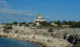 The Vladimirskiy (St. Vladimir) Cathedral in Chersonesus, Sevastopol Stock Photos