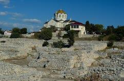 The Vladimirskiy (St. Vladimir) Cathedral in Chersonesus, Sevastopol Stock Images