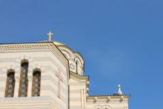 Vladimirsky orthodoxe Kathedraal in Sebastopol, de Krim Stock Afbeeldingen