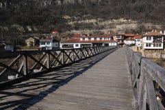 Vladishki-Brücke in Veliko Tarnovo Stockfotografie