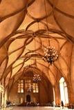 Vladislav Hall no castelo de Praga Imagem de Stock Royalty Free