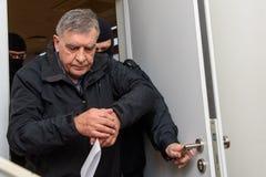 Vladislavs Kozaks, direttore di commercio del trasporto di SKODA della Lettonia ha arrestato fotografia stock