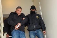 Vladislavs Kozaks, direttore di commercio del trasporto di SKODA della Lettonia ha arrestato fotografia stock libera da diritti