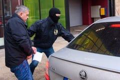 Vladislavs Kozaks, direttore di commercio del trasporto di SKODA della Lettonia ha arrestato immagine stock libera da diritti