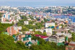 Vladivostok aerial panoramic view Stock Photos