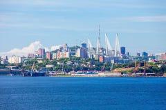 Vladivostok aerial panoramic view Stock Photography