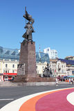 Vladivostok during the APEC summit. The central square of Vladivostok during the APEC summit, September 6, Russia Royalty Free Stock Images
