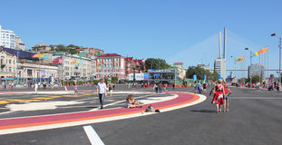 Vladivostok during the APEC summit Royalty Free Stock Photography