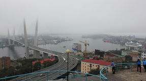 Vladivostok during the APEC summit in September  Royalty Free Stock Image