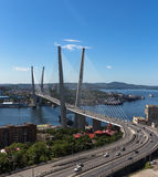 Vladivostok, bridge. Stock Photo