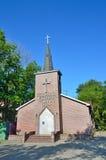 Vladivostok Christian Methodist Church en tiempo claro imagen de archivo libre de regalías