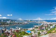 Vladivostok cityscape. Vladivostok cityscape daylight view royalty free stock photography
