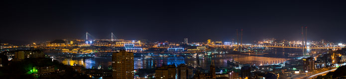 Vladivostok cityscape, night view. Stock Photography