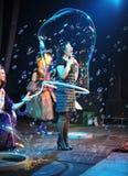VLADIVOSTOK - 25 DE DICIEMBRE: Burbujas de jabón frestival en la arena Imágenes de archivo libres de regalías