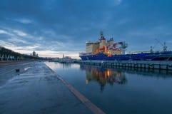 Vladivostok - diesel-elektrisch icebreaker project 21900M Royalty-vrije Stock Foto