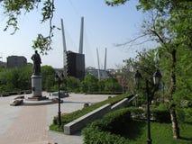 vladivostok El cuadrado de un nombre de N n Muravyov-Amurskiy Fotos de archivo libres de regalías