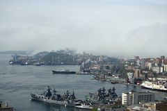 Vladivostok. The Golden horn bay. The Golden horn bay, Vladivostok royalty free stock photo
