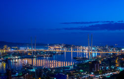 Vladivostok, night. Royalty Free Stock Photos