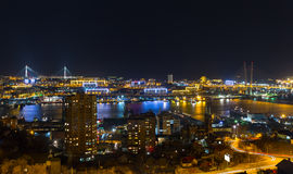 Vladivostok, night view. Royalty Free Stock Photography