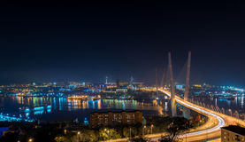 Vladivostok. Night view. Stock Photography