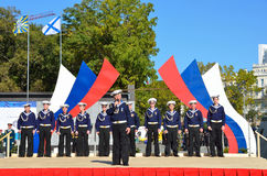 Vladivostok, October, 05, 2015. A concert of song and dance ensemble of the Pacific fleet in Vladivostok Stock Image
