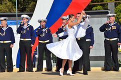 Vladivostok, October, 05, 2015. A concert of song and dance ensemble of the Pacific fleet in Vladivostok. Vladivostok,  concert of song and dance ensemble of the Royalty Free Stock Photos