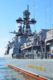 Vladivostok, October, 05, 2015. Large anti-submarine ship Admiral Panteleev Stock Photos