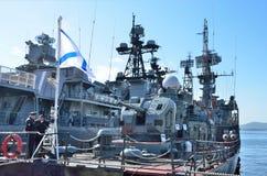 Vladivostok, October, 05, 2015. Large anti-submarine ship Admiral Panteleev Royalty Free Stock Image