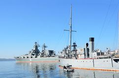 Vladivostok, 05 Oktober, 2015 De vlaggeschepen van de Vreedzame vloot royalty-vrije stock afbeelding