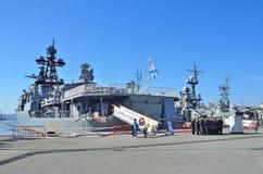 Vladivostok, Październik, 05, 2015 Wielki łódź podwodna statku Admiral Panteleev Fotografia Royalty Free