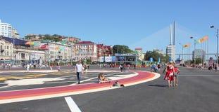 Vladivostok podczas APEC szczytu Fotografia Royalty Free