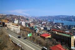 Vladivostok, port in the Golden Horn Bay Royalty Free Stock Images