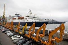 Vladivostok portuario. Rusia. Fotografía de archivo