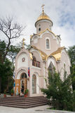 Vladivostok, Russia - circa August 2012: Russian Orthodox Chapel in Vladivostok, Russia royalty free stock images
