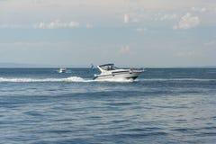 Vladivostok, Russia - circa August 2014: Speed boat in Vladivostok,  Russia Stock Image