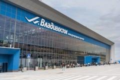 Vladivostok, Russia - circa October 2015: Knevichi - Vladivostok International Airport, VVO,  Russia Stock Photos