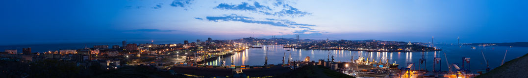 VLADIVOSTOK, RUSSIA - City outline 23 MAY 2012 Stock Images