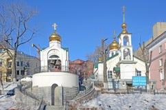 Vladivostok, Russia, January 13, 2015, Nobody, the Church of the Dormition of the mother of God [Uspenskaya] in Vladivostok Royalty Free Stock Photos