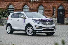 Vladivostok, Russia, July 16, 2016 Kia Sportage white is on the road in Vladivostok on 16 July 2016 Stock Photo
