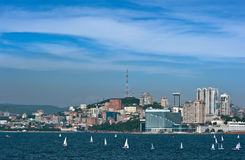 Vladivostok. Russia. 19 July 2016: View of part of Vladivostok. Stock Photography