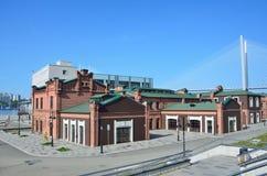 Vladivostok, Russia, June, 03, 2016. The former artillery workshops on the embankment of Tsesarevitch. Vladivostok, Russia, the former artillery workshops on the Stock Photo